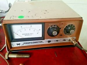 Sheffield Bendix Profilometer Model 1 Surface Roughness Meter