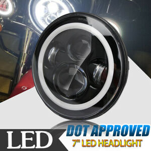 7 Inch 60w Projector Led Headlight Drl For Harley Davidson Motorcycle