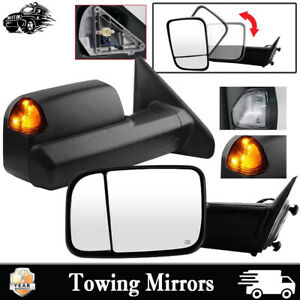 Pair For 2002 08 Dodge Ram 1500 03 09 Ram 2500 3500 Towing Mirrors Power Heated