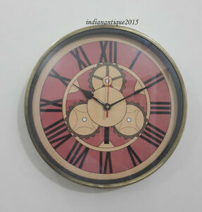 Antique Look Wall Clock Old Town Clocks Repair Home De Core Gift Item