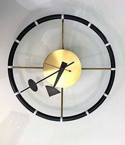 George Nelson Original Wall Clock Howard Miller 1950 S Vintage Modernist