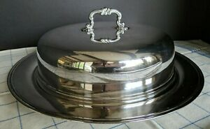 Vintage Silverplate Covered Cake Pie Plate