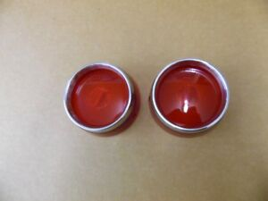 Pontiac Tail Lamp Lenses 1955 1956 With Trim Rings New 20
