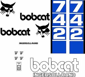 742 Replacement Decals Decal Kit Sticker Set Skid Loader Steer Fits Bobcat