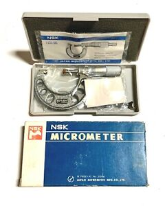 Nsk Outside Micrometer Caliper 25 50mm 0 001 Made In Japan