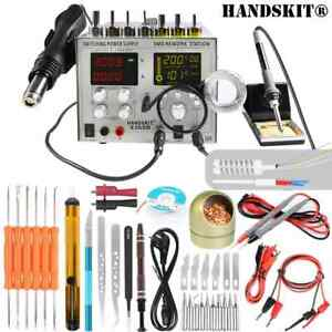 2019 Professional Soldering Iron 7 Sets Station Pyrography Cutter Kit Eu us Plug