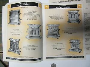 1931 Universal Electric Heating Appliance Catalog And Price Sheet New Britain C