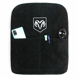 Black Protective Cloth Console Cover For 02 18 Dodge Ram W Jump Seats Ram Logo
