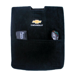 Seat Armour Black Console Cover Fit For 2007 2013 Silverado tahoe W jump Logo