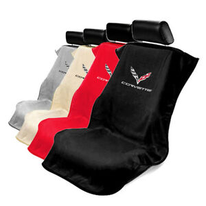 Protective Seat Cover Towel For Chevy Corvette c7 Logo From Seat Armour