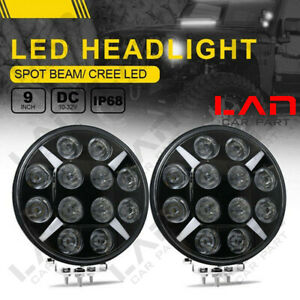 2pc For Jeep Ford Toyota 6000k 120w High Power Led Round Work Light Headlight