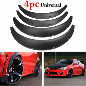 Universal 4 Piece Fender Flares Car Suv Wide Body Wheel Arches Flexible Durable
