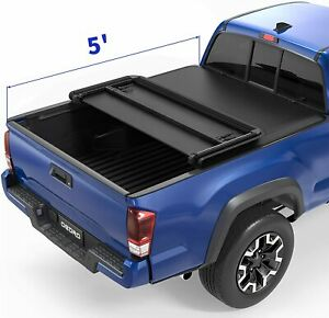 Oedro Fit For 16 18 Toyota Tacoma Extra Short Bed 5 Tri Fold Tonneau Cover