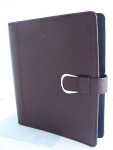 New Monarch folio 1 Rings Burgundy Pebbled Leather Day timer Planner binder