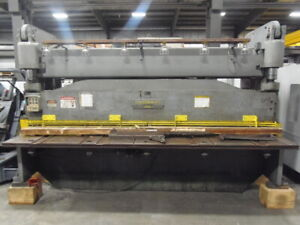 Cincinnati 3 8 X 14 Hydraulic Metal Squaring Shear Sheet 3dl14