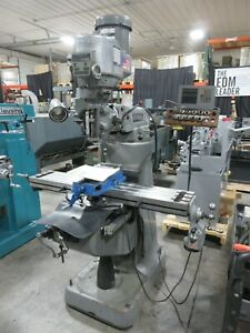 Bridgeport Vertical Mill Milling Machine W Readout And Power Feed
