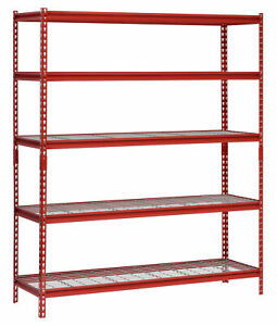 5 shelf Storage Garage Warehouse Shelving Unit Rack Steel Home Office Organizer
