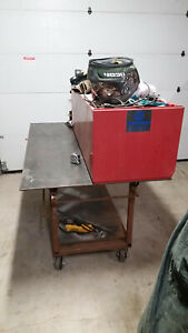 Steel Welding Work Bench Fabrication Layout Table 3 2 X 5 2 X 32 3 8 Tall