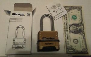 4 Master Lock 1175lhrs Resettable Pro Combination Padlock W 2 1 16 inch Shackle