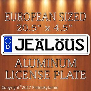 Jealous Euro Style Aluminum European License Plate Tag German Je L S