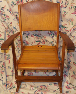 Vintage Clements 218 Canada Quebec Folding Rocking Chair