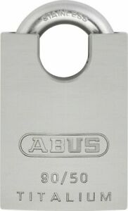 Abus 90 50 Ka Titalium 50mm Body With Stainless Steel Shackle