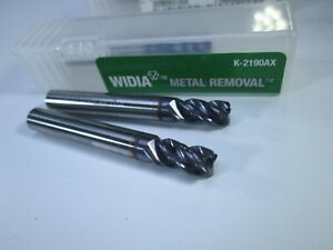 Lot 2 Pcs Widia Carbide End Mills 3 16 X 3 8 X 1 1 2 Roughing Lathe Tools