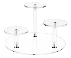 Display Plate Stand Holder Acrylic Clear Stands Round Base Rider 8 W Pedestals