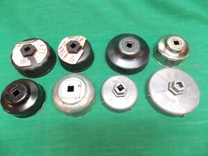 Lot Of 8 Cap Style Oil Filter Wrenches Used