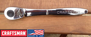 Nos Craftsman 1 2 Drive Thin Profile 60t Reversible Ratchet Usa Made