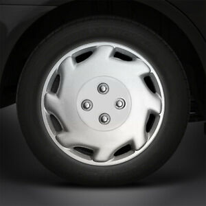 12 Silver Laser Style Hubcaps Wheel Covers Set Of 4