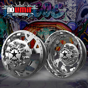 New American Force Man Of War 22 5x8 25 Dually Truck Wheels Rims Chevy 1973 2010