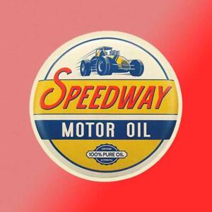 Speedway Motor Oil Vintage Vinyl Decal Sticker Car Truck Race Car Garage Man
