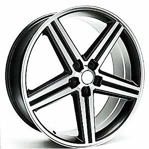Iroc Wheels 22 Lot Of 4 New Wheels Machine Black Finish 5x4 75 22x9 5