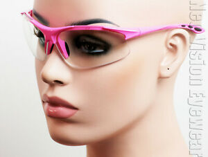 Erb Ella Hot Pink Clear Lens Safety Glasses Womens Motorcycle Z87