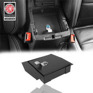 For Jeep Wrangler Jl 18 19 Interior Storage Security Console Lock Box Textured