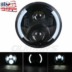 7 Motorcycle Projector Led Headlight For Harley Electra Glide R