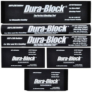 New Sanding Block Set 6pc Black Auto Body Car Repair Tool Stick It Sander Blocks
