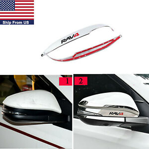 Chrome Car Auto Rearview Side Mirror Cover Trim For Toyota Rav4 2014 2018