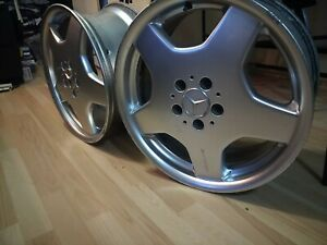 Monoblock Mercedes Amg 18 8 5j X 2 Wheels Extra Rare From S Sl Cl 500 55 600