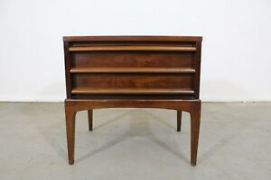 Mid Century Modern Lane Rhythm Sculptural Walnut Nightstand