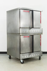 Used Blodgett Zephaire 100 e Double Deck Electric Convection Oven Full Size
