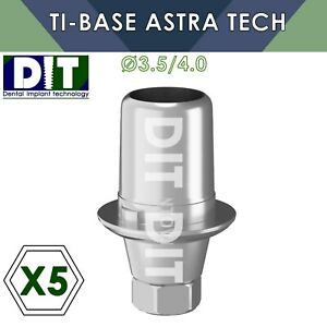 5 X Dental Ti base With Hex Compatible Astra Tech 3 5 4 0mm Dental Implants