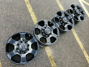 18 Dodge Ram 2500 Laramie Black Longhorn Oem Factory Stock Wheels Rims 8x165