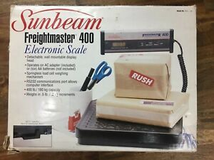 Sunbeam Freightmaster 400 Shipping Scale Electronic Unused 400lb Capacity