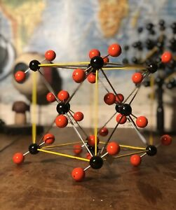 Vintage Carbon Dioxide School Educational Molecular Model Chemistry Co2 Atoms