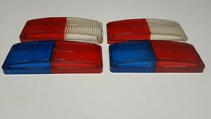 Whelen 700 Series Lens Covers Lot Of 4 2 Blue Red 2 Red White 3 X 7