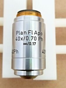 Reichert Austria 40x Apo 0 70 Plan Fluor Phase Microscope Objective With Case