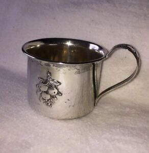 Antique Webster Sterling Silver Baby Cup Mug Vintage