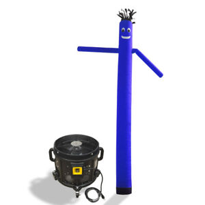Air Inflatable Sky Puppet Great Dancer 20 Ft Plain Blue With 3 4 Hp Blower
